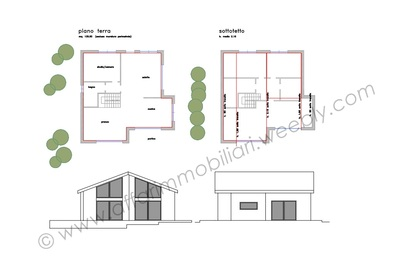Progetto 50 mq la nuova struttura separata da via piave for 6 piani di casa colonica di 6 camere da letto